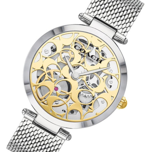 Coach Park Silver Mesh Women's Multi-function Watch - 14503596