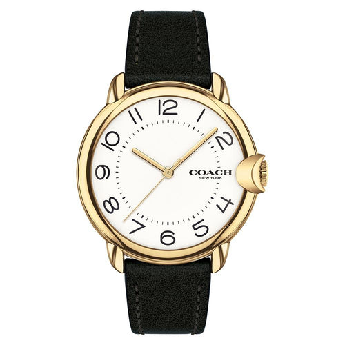 Coach Arden Black Leather Women's Watch - 14503606
