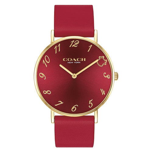 Coach Perry Red Leather Women's Watch - 14503722