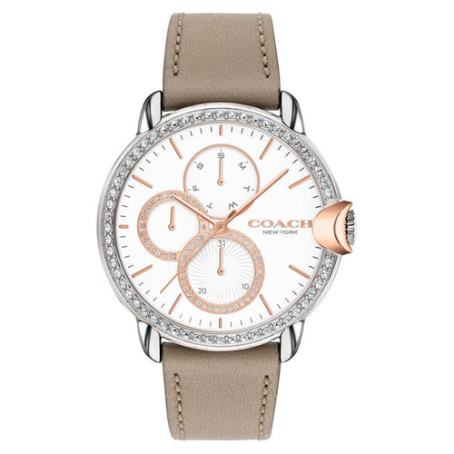Coach Arden Brown Leather Women's Multi-function Watch - 14503733