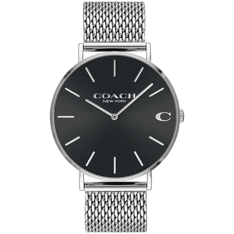 Coach Charles Stainless Steel Mesh Men's Watch - 14602144