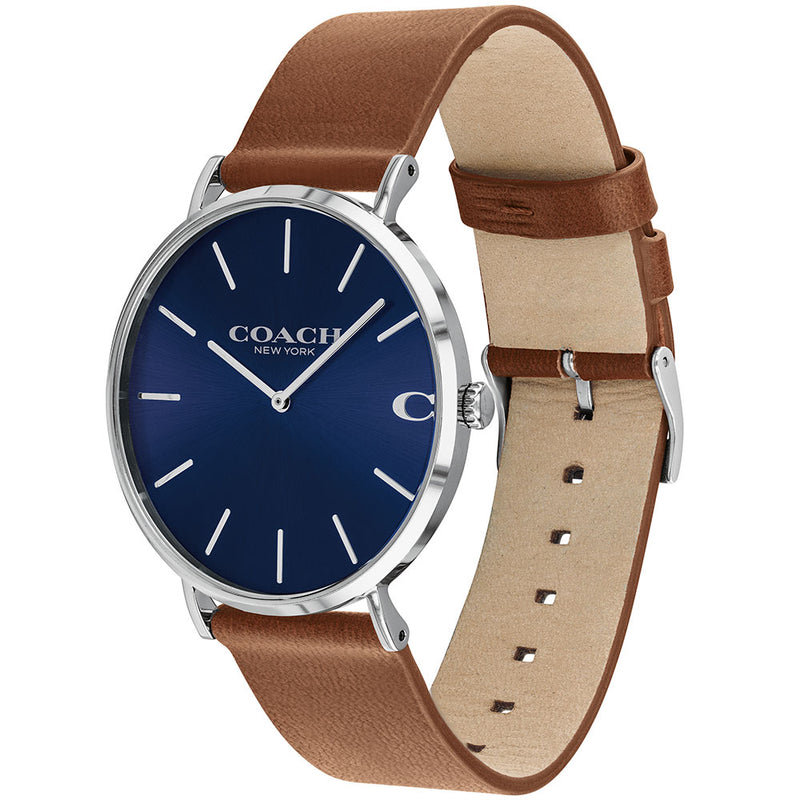 Coach Charles Brown Leather Men's Watch - 14602151