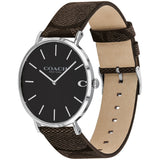 Coach Charles Casual Brown Leather Men's Watch - 14602156