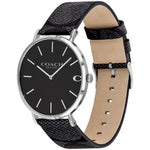 Coach Charles Casual Black Leather Men's Watch - 14602157