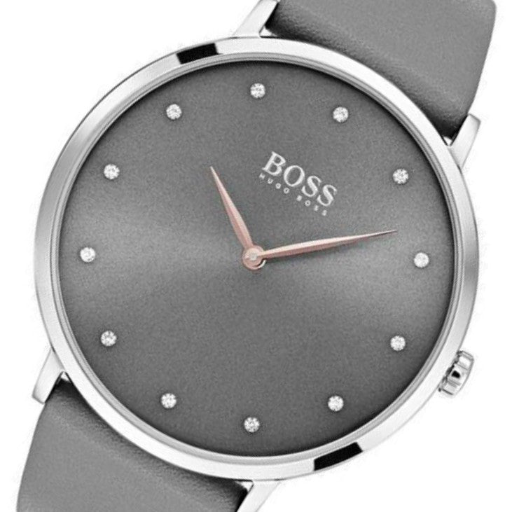 Hugo Boss Jillian Grey Leather Ladies Watch - 1502413