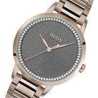 BOSS Ladies Carnation Gold Crystal Studded Watch - 1502463