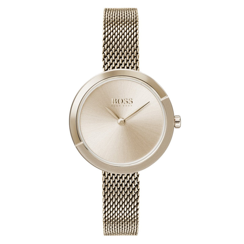 Hugo Boss Ophelia Carnation Gold Mesh Ladies Watch - 1502498