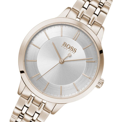 Hugo Boss Virtue Carnation Gold Steel Ladies Watch - 1502514