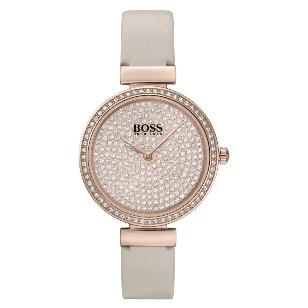 Hugo Boss Celebration Beige Leather Ladies Watch - 1502517