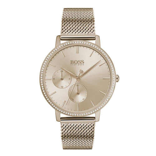 Hugo Boss Infinity Carnation Gold Mesh Ladies Watch - 1502519