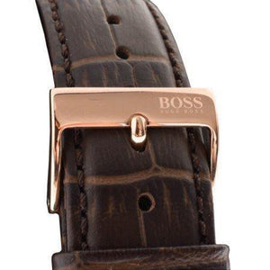 Hugo Boss Brown Leather Mens Watch - 1513281