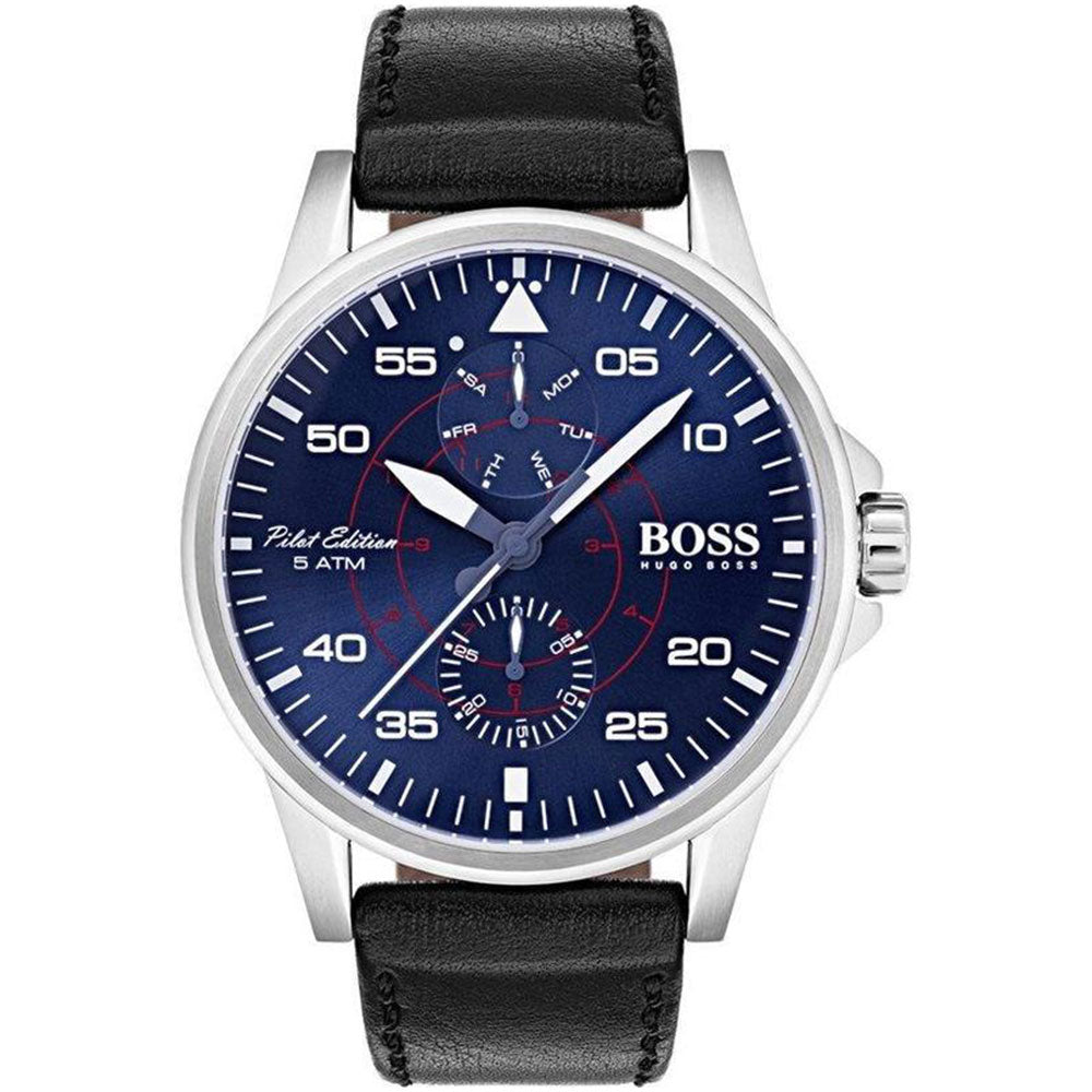Hugo Boss Aviator Brown Leather Men's Watch - 1513515