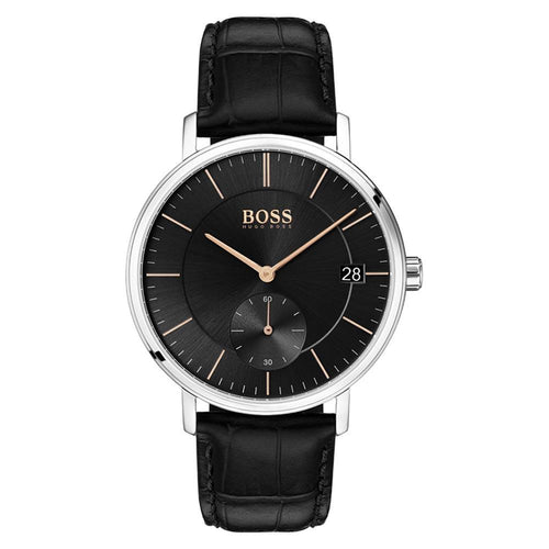 Hugo Boss Corporal Black Leather Men's Watch - 1513638