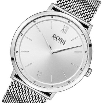 Hugo Boss Essential Silver Mesh Men's Watch - 1513650