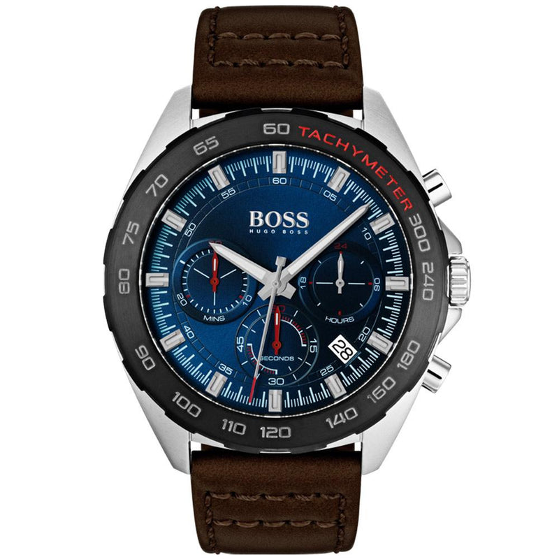 Boss Intensity Men's Multi-functional Leather Diver's Watch - 1513663