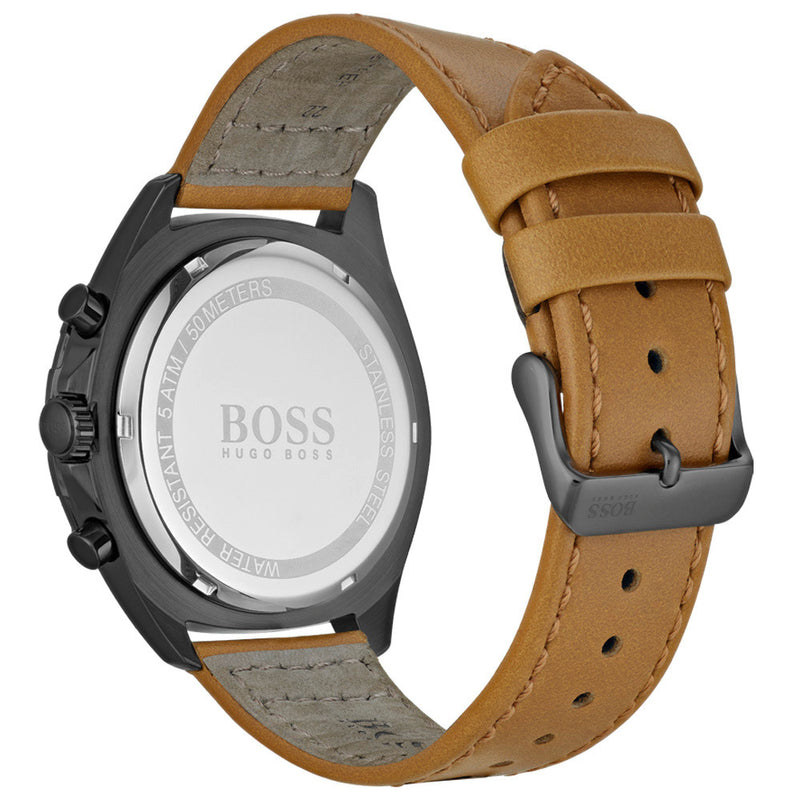 Boss Intensity Brown Leather Chronograph Men's Watch - 1513664