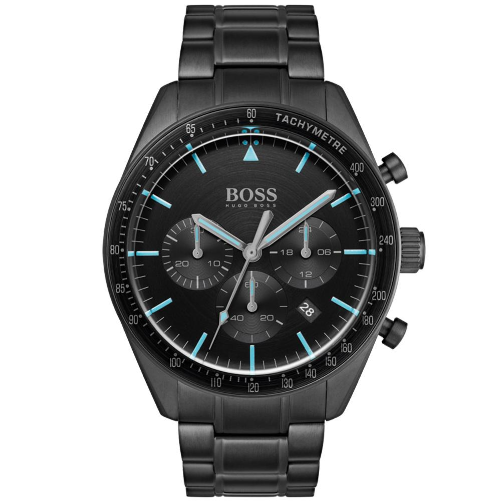 Boss Trophy Black Steel Men's Chrono Watch - 1513675