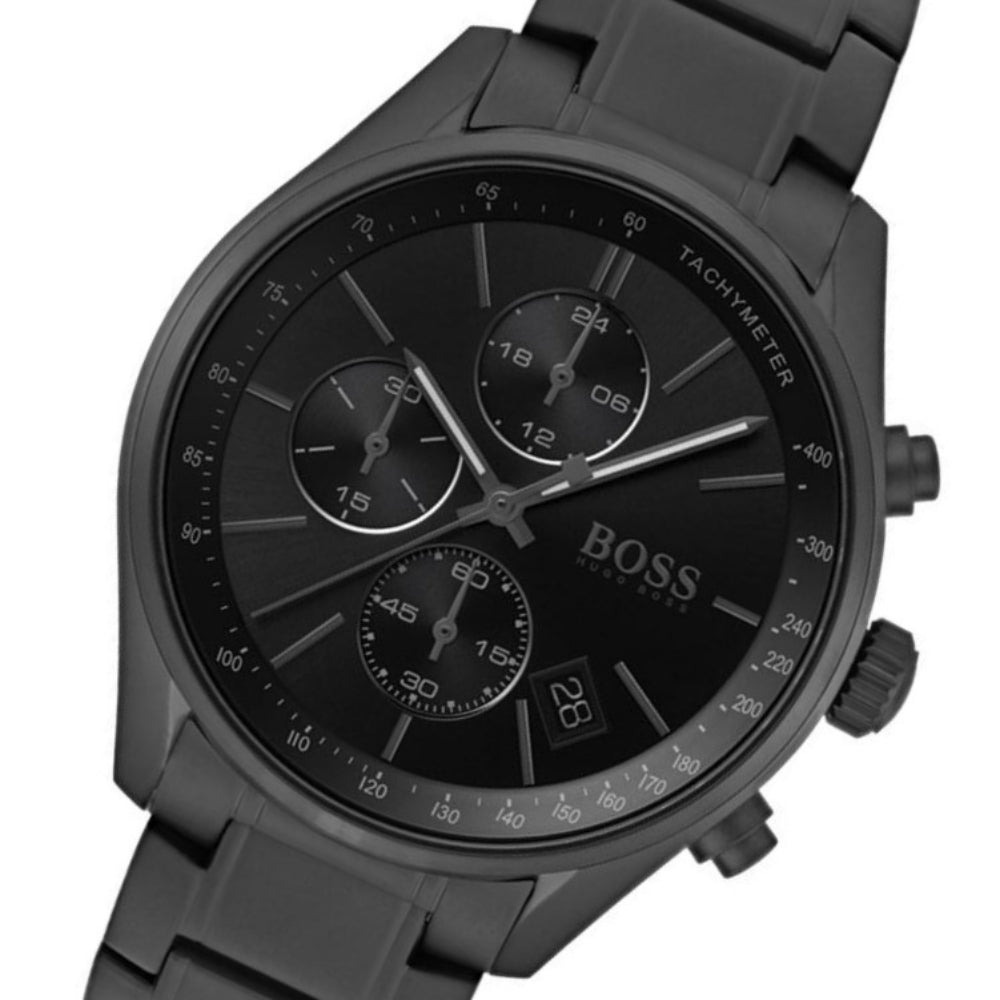 Boss Grand Prix Black Steel Men's Chrono Watch - 1513676