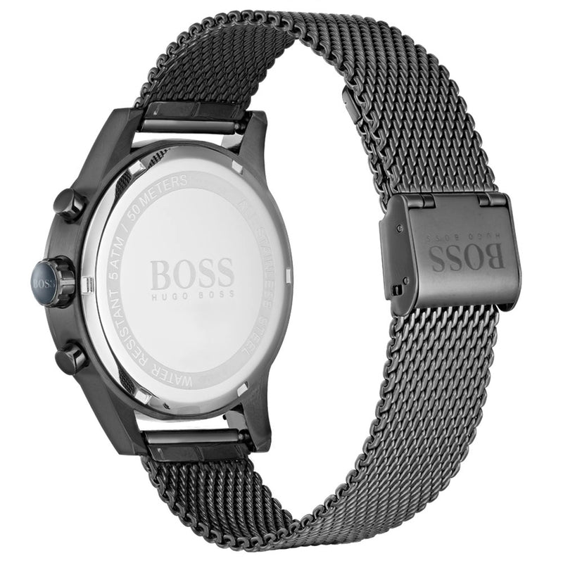 Boss Jet Black Steel Mesh Men's Watch - 1513677