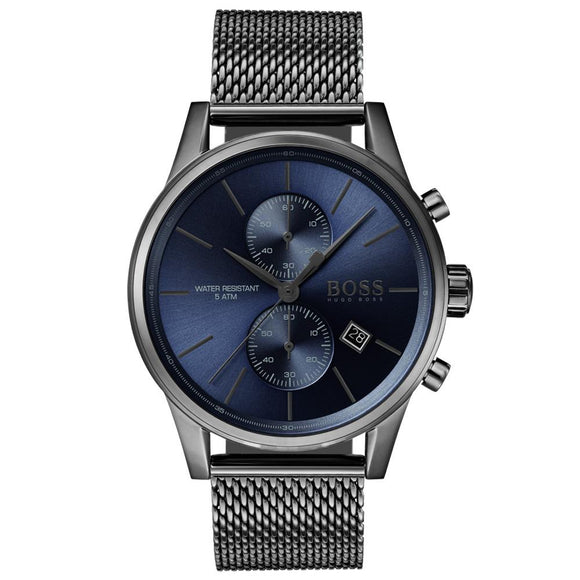 Boss Jet Black Steel Mesh Men s Watch - 1513677 8bea4db6e7