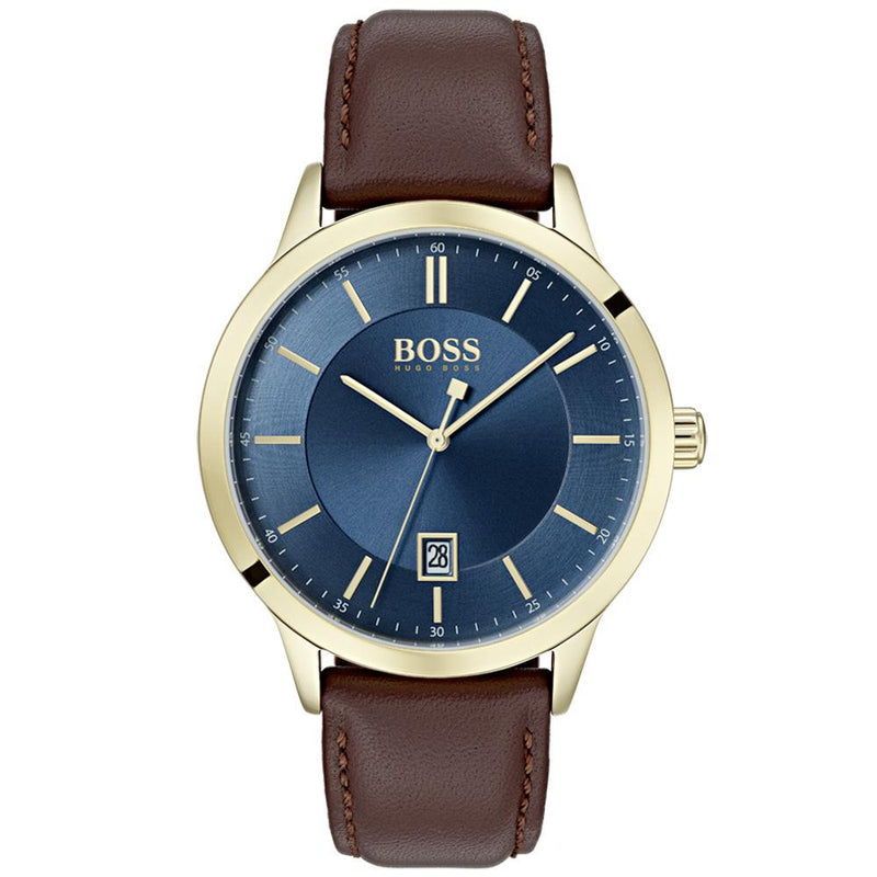 Boss Classic Brown Leather Men's Watch - 1513685