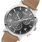 Boss Spirit Multi Function Chronograph Men's Leather Watch - 1513691
