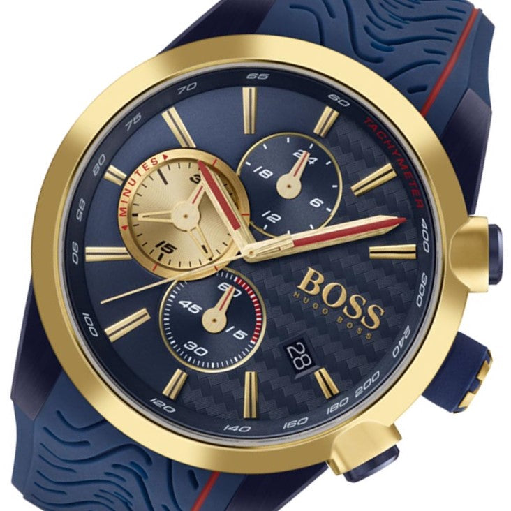 Hugo Boss Motor Sport Blue Silicone Men's Chronograph Watch - 1513706