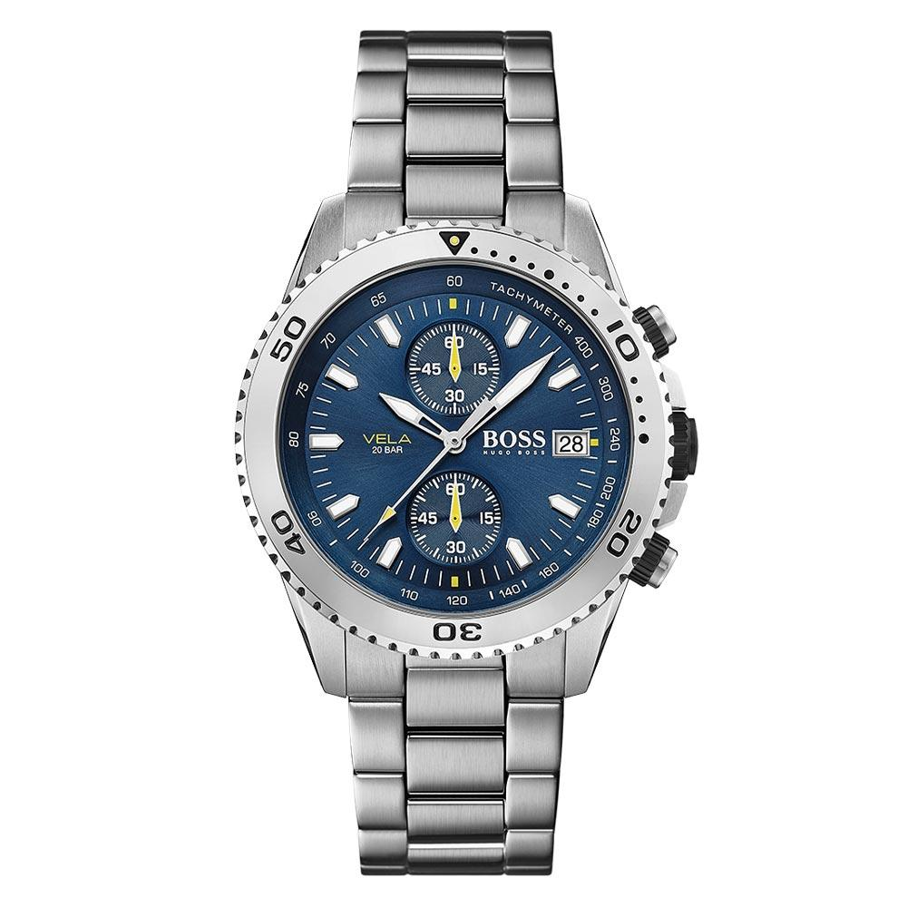 Hugo Boss Vela Stainless Steel Men's Watch - 1513775