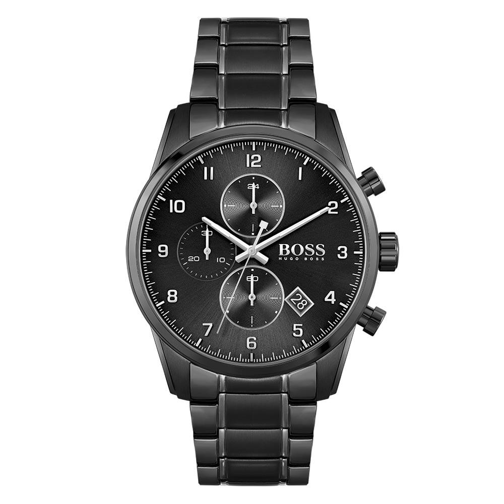 Hugo Boss Black Steel Chrono Men's Watch - 1513785
