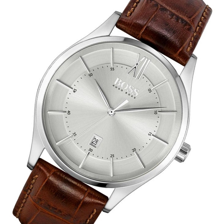 Hugo Boss Distinction Brown Leather Men's Watch - 1513795