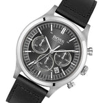 Hugo Boss Metronome Black Leather Men's Chrono Watch - 1513799