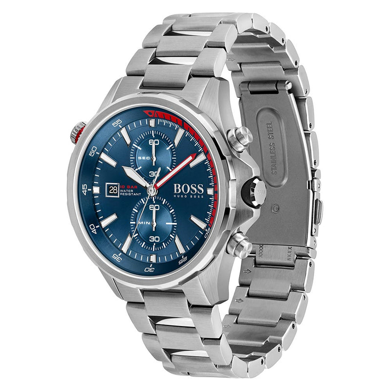 Hugo Boss Globetrotter Stainless Steel Men's Chrono Watch - 1513823