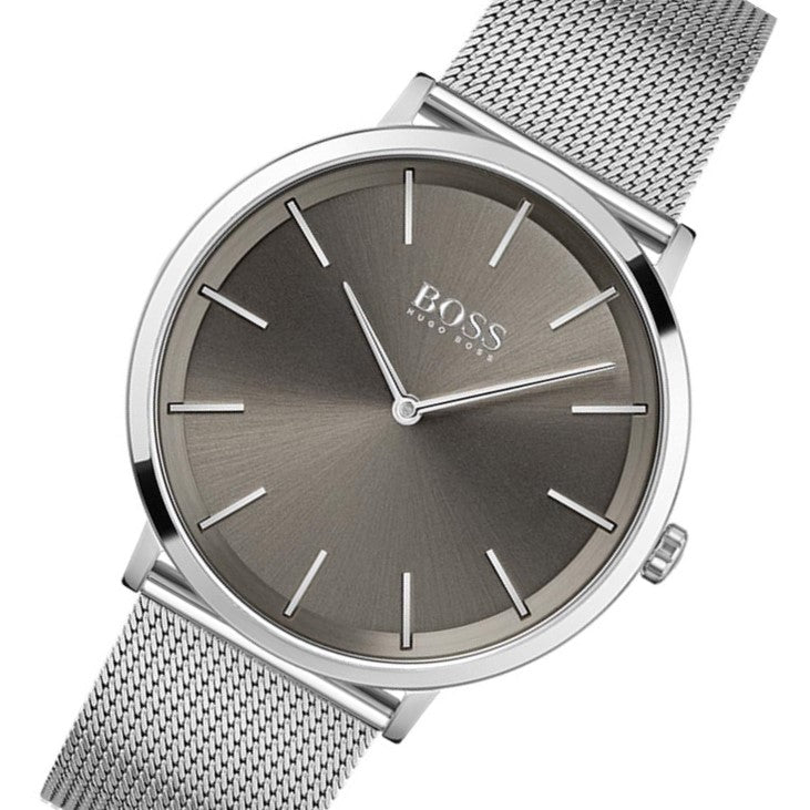 Hugo Boss Skyliner Silver Mesh Men's Watch - 1513828