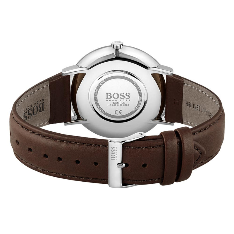 Hugo Boss Classic Brown Leather Men's Watch - 1513829
