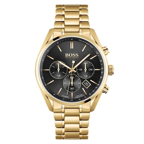 Hugo Boss Champion Gold Steel Men's Chrono Watch - 1513848
