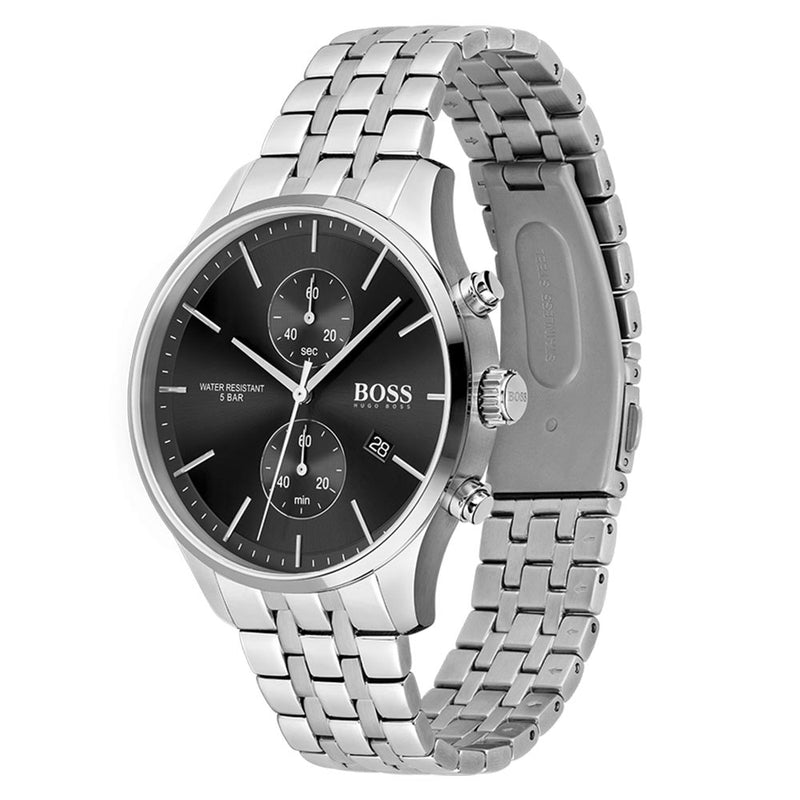 Hugo Boss Silver Steel Men's Chrono Watch - 1513869