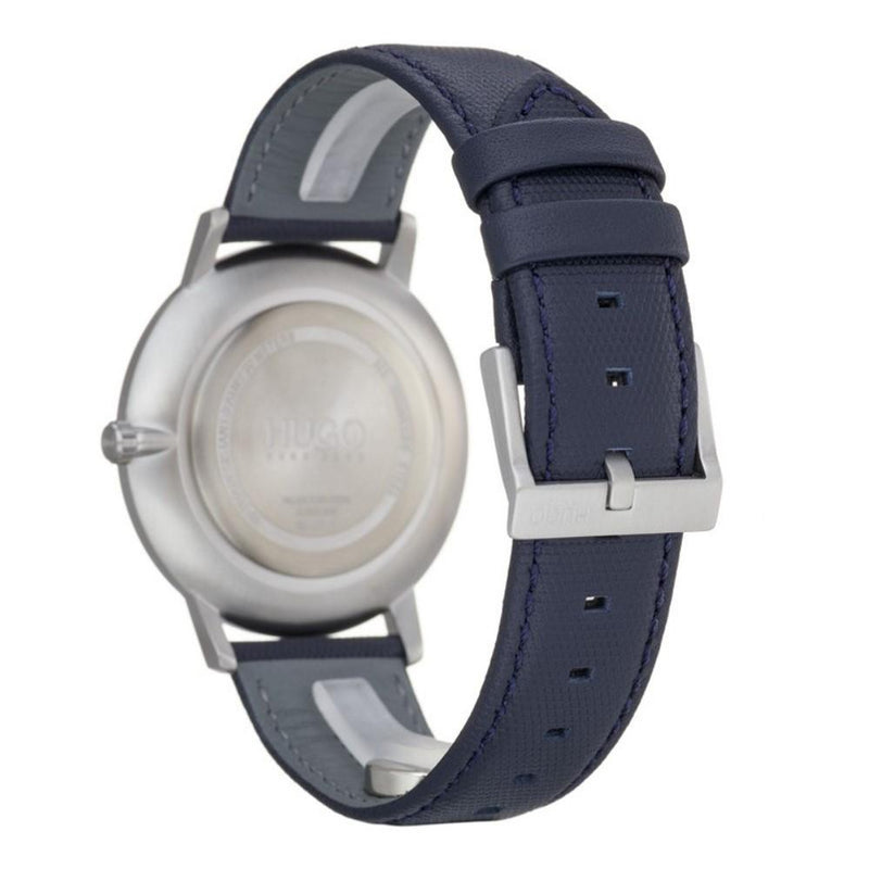 Hugo Exist Blue Leather Men's Watch - 1520008