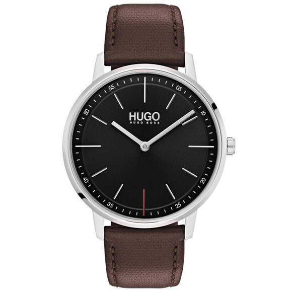 Hugo Exist Brown Leather Men's Watch - 1520014