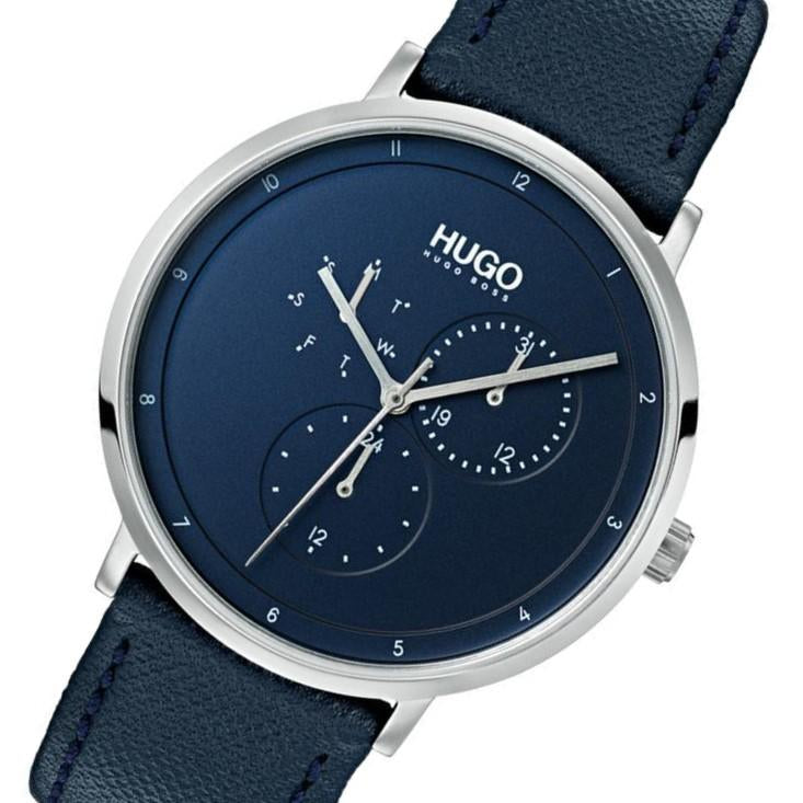 Hugo Guide Blue Leather  Men's Watch - 1530007