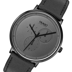 Hugo Guide Black Leather  Men's Watch - 1530009