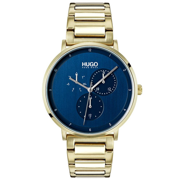 Hugo Guide Gold Steel  Men's Watch - 1530011