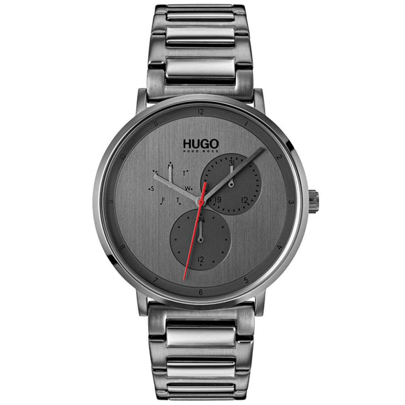 Hugo Guide Grey Steel Men's Watch - 1530012