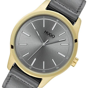 Hugo Dare Grey Leather Men's Watch - 1530019