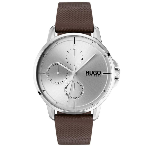 Hugo Focus Brown Leather Men's Watch - 1530023