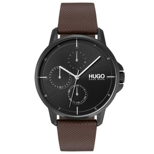 Hugo Focus Brown Leather Men's Watch - 1530024
