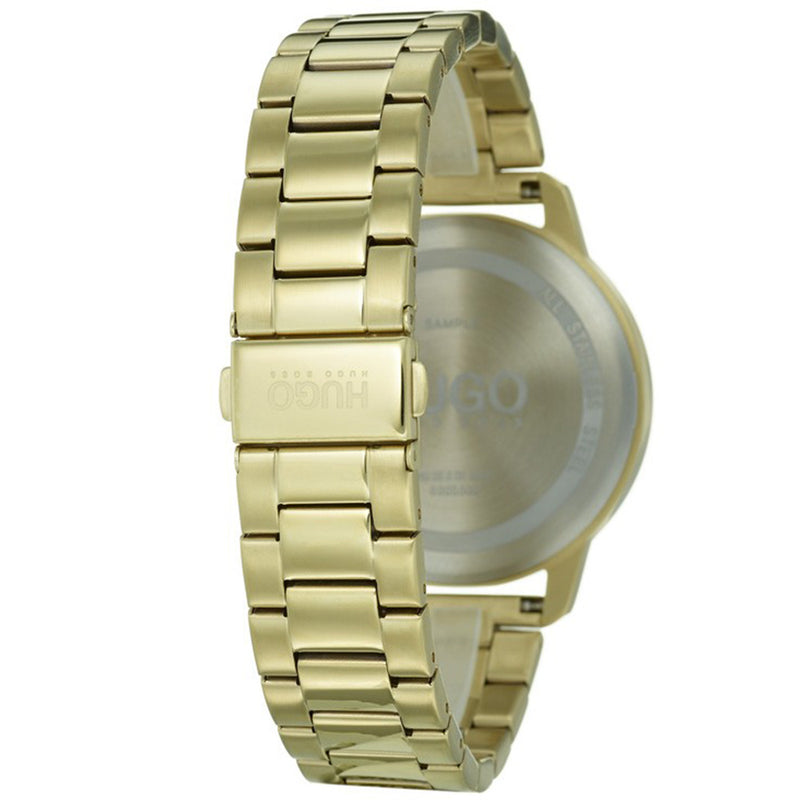 Hugo Focus Gold Stainless Steel Men's Watch - 1530026