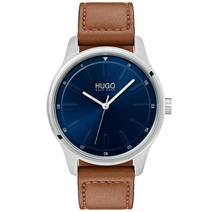 Hugo Dare Brown Leather Men's Watch - 1530029