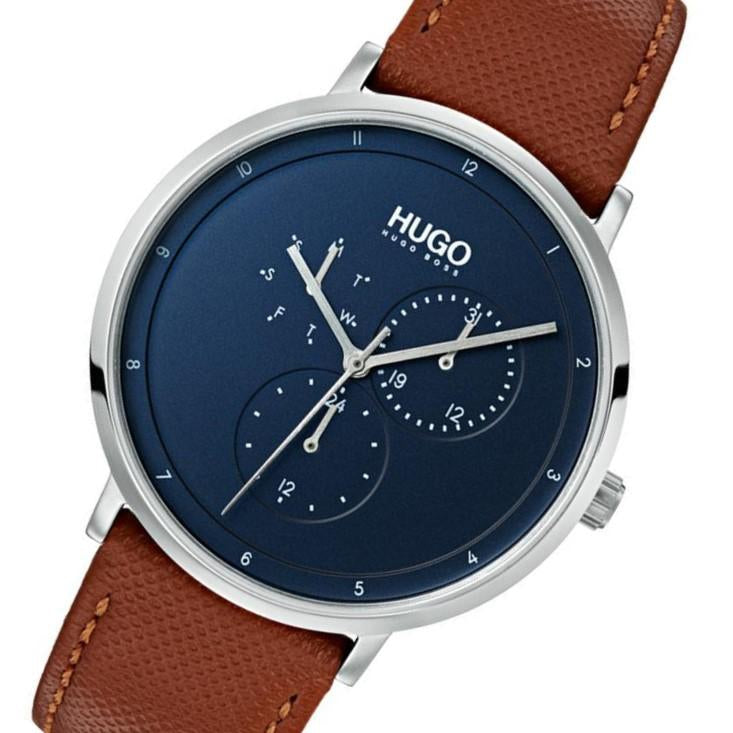 Hugo Guide Brown Leather Men's Watch - 1530032