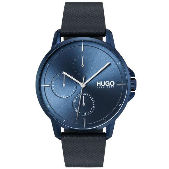 Hugo Focus Blue Leather  Men's Watch - 1530033