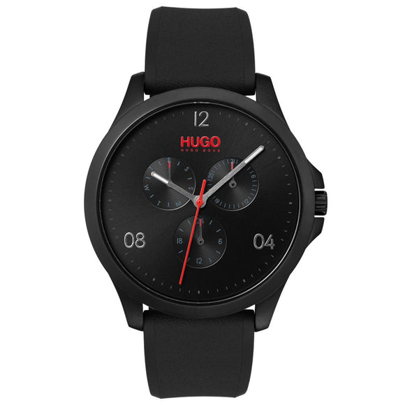 Hugo Risk Black Silicone Men's Watch - 1530034